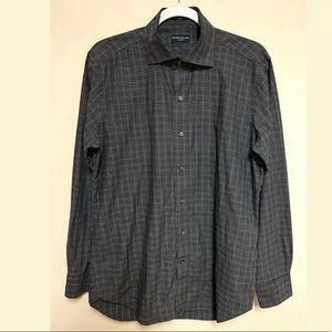 Peter Millar Collection Button Plaid Shirt Cotton